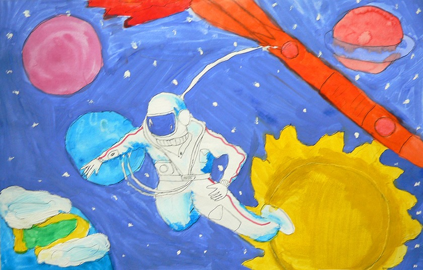 рисунок на тему космос картинки